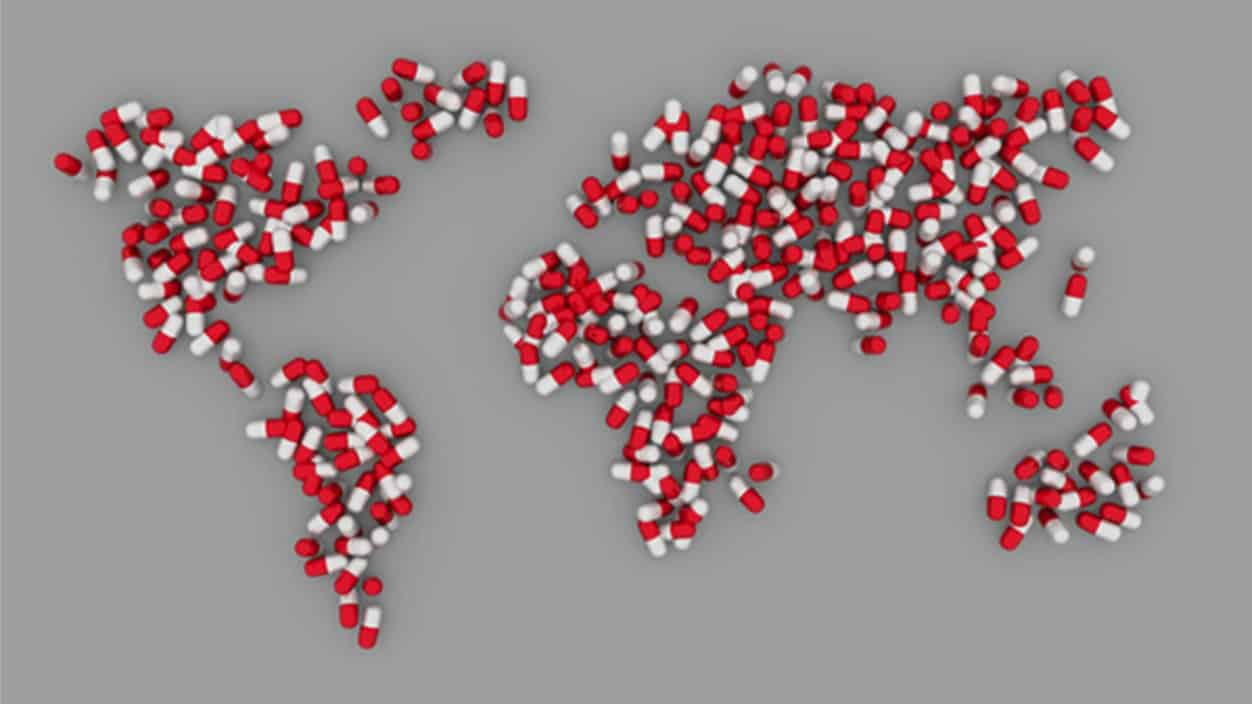 map made with pills